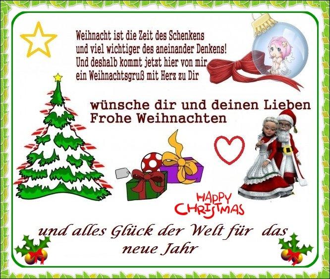 Frohe Weihnachten Wünsche Ich Dir Und Deiner Familie.Mein Gästebuch