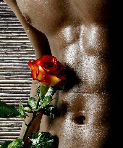 Фото голого мужчины с цветами 89597 фотография