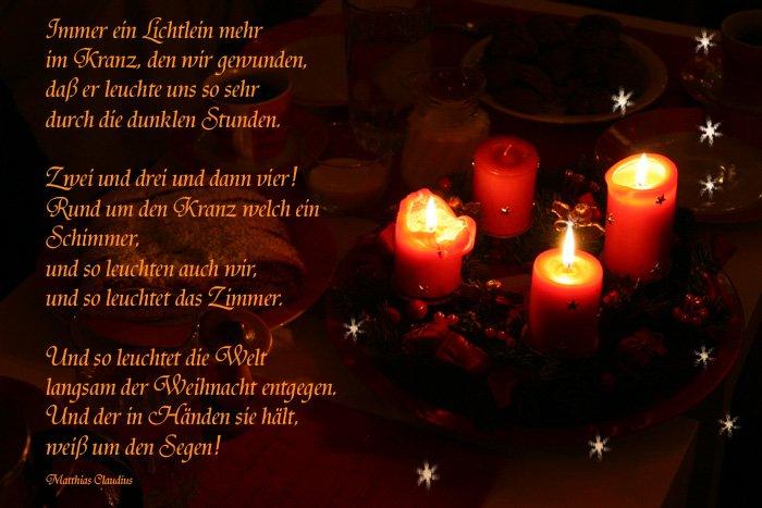 Weihnachtsgedichte Christlich.3 Advent Lustich De